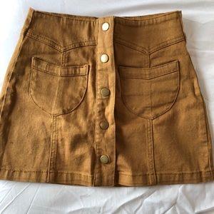 Dresses & Skirts - Tan button down high waist skirt